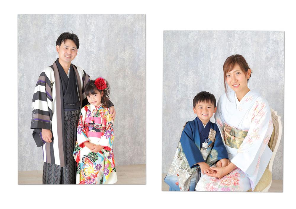 七五三 家族写真 ツーショット